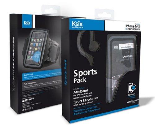 Pack deportivo Ksix de auriculares y brazalete deportivo para smartphone
