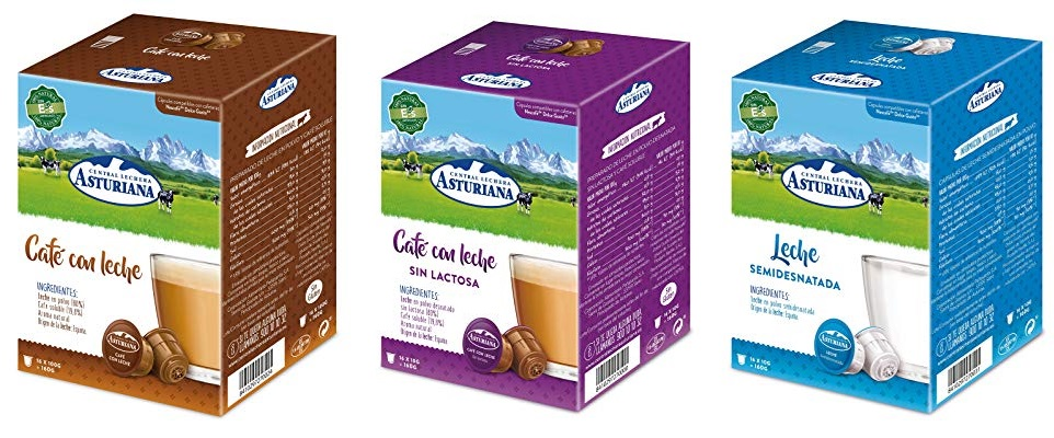 Pack x 4 Dolce gusto Central Lechera Asturiana Cápsulas
