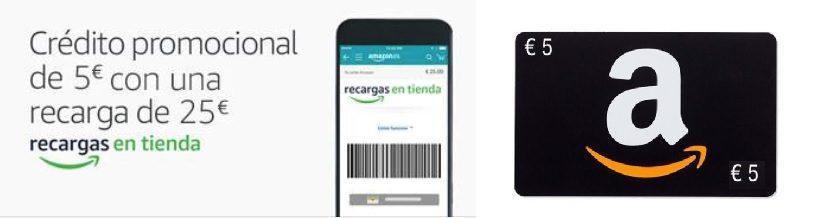 Crédito promocional de 5€ en Amazon
