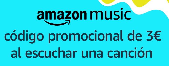 ¡3€ GRATIS! al usar Amazon Music y escuchar una canción
