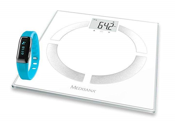 Báscula digital de baño Medisana BS444 + monitor de actividad