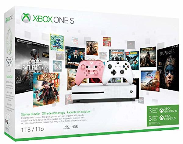 Consola Xbox One S de 1TB + 2 Mandos + 3 Meses De Game + 3 Meses de Live (Edición Exclusiva Amazon)