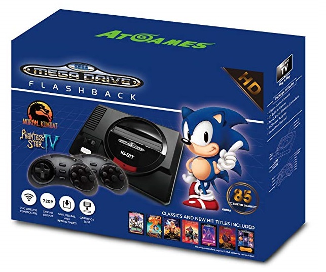 Consola Retro Sega Mega Drive Wireless HD con 85 juegos