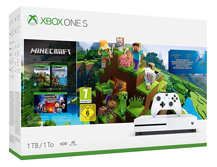 Consola Xbox One S de 1TB + Minecraft Complete Collection