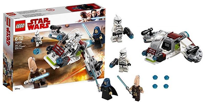 LEGO Star Wars - Pack de combate Jedi y soldados clon (75206)