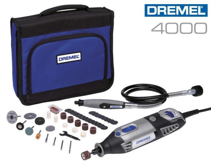 Multiherramienta Dremel 4000 con 45 accesorios + 1 complementos + bolsa transporte