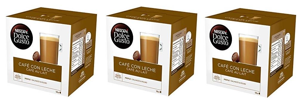 Pack de 3 Nescafé Dolce Gusto Café con Leche