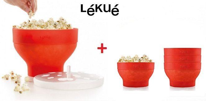 Lékué XL Popcorn - Set para microondas