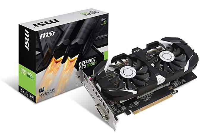 Tarjeta Gráfica MSI GeForce GTX 1050 Ti 4GT OC