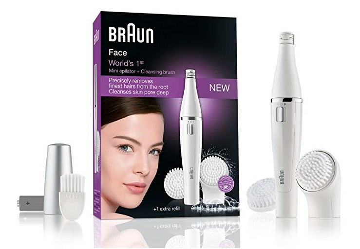 Depiladora facial Braun Face 820 con cepillo de limpieza