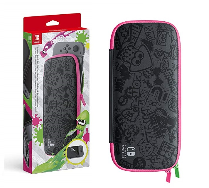 Nintendo Switch - Set Accesorios, Funda + Protector LCD (Edición Splatoon 2)