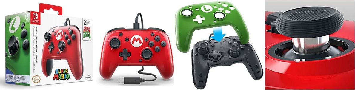 PDP - Mando Pro Deluxe Faceoff Mario, Luigi Edition (Nintendo Switch) detalles