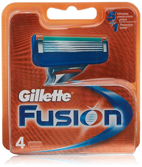 Pack de 4 Recambios Gillette Fusion