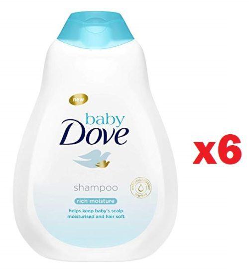 Pack de 6 Champú Dove Baby Hidratación Profunda