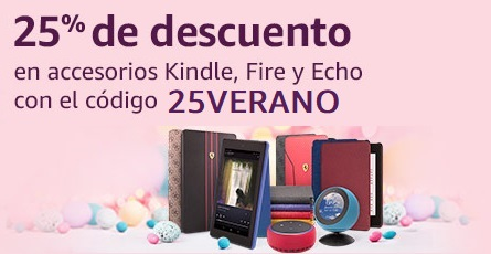 Echo, Kindle o Tablets Fire con descuento del 25%