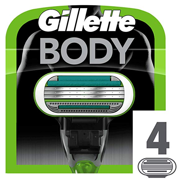 Pack 4 Recambio Gillette BODY