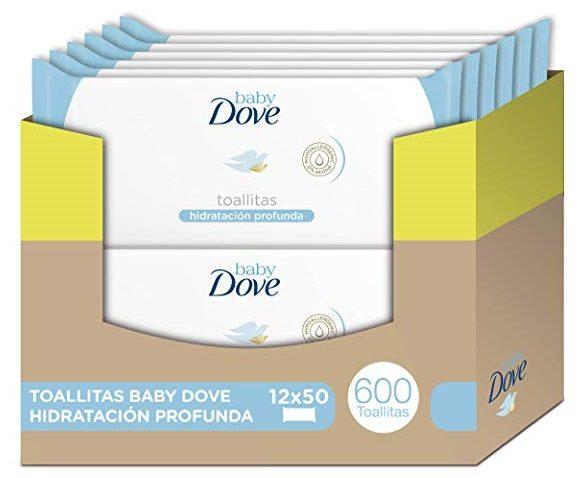 Pack de 600 Toallitas húmedas Baby Dove hidratación profunda
