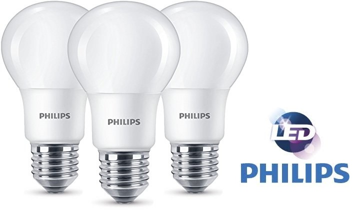 Pack de bombillas LED Philips E27 8W baratas