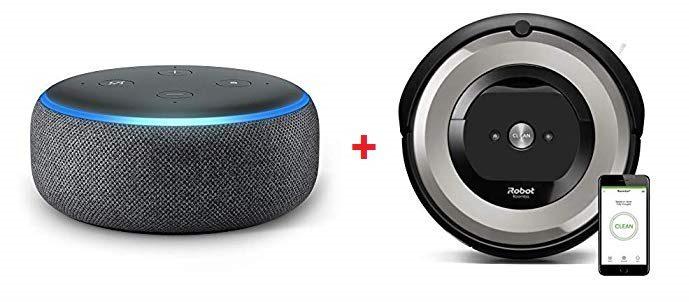 Robot Aspirador iRobot Roomba e5154 + Echo Dot con Alexa