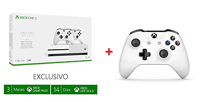 Xbox One S de 1TB + 3 Mandos + 3 Meses Game Pass