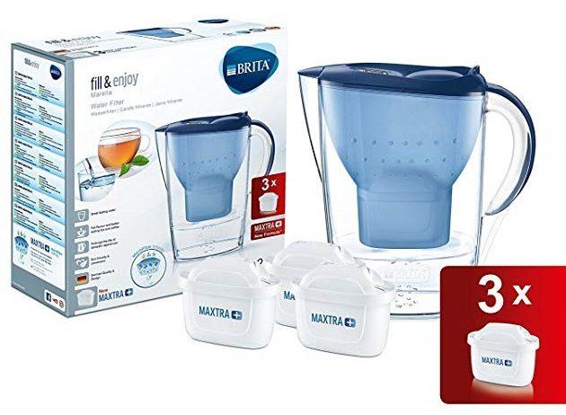 Jarra de agua BRITA Marella + 3 cartuchos MAXTRA+