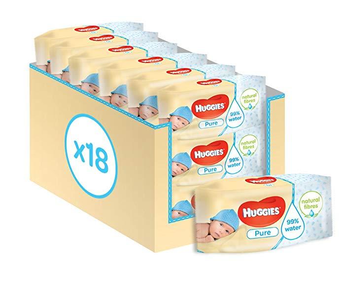 18 Paquetes de toallitas para bebe Huggies