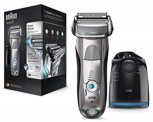 Afeitadora eléctrica Braun Series 7 7898 cc + Estación de limpieza Clean&Charge