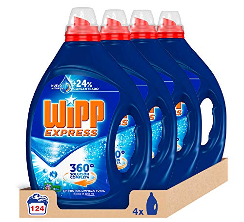 Pack de 124 lavados detergente líquido Wipp Express