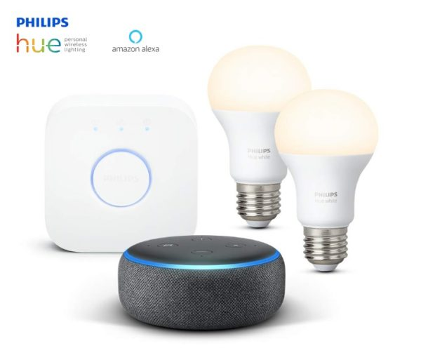 Echo Dot (3.ª generación) + HUE + Bombillas LED E27