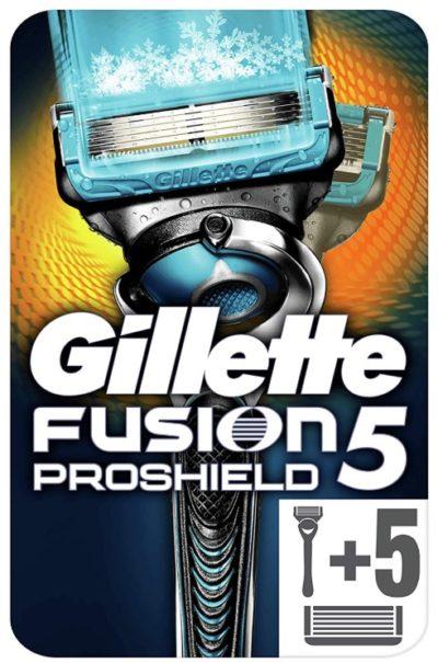 Maquinilla de Afeitar Gillette Fusion ProShield + 5 Recambios