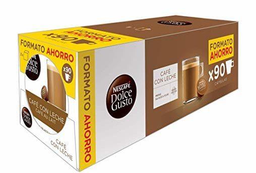 Pack de 90 cápsulas Nescafé Dolce Gusto Café con Leche