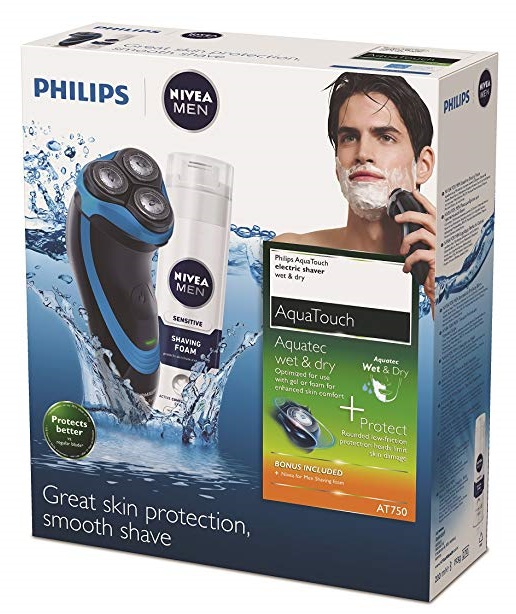 Pack Philips Aquatouch AT750 detalle caja