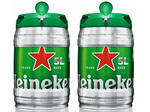Pack de 2 Barril Cerveza Heineken de 5 litros