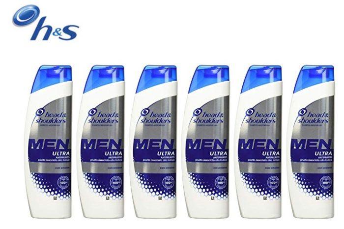 Pack de 6 champús anti-caspa Head & Shoulders MEN Ultra frescor
