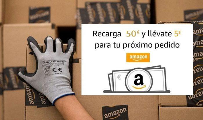 5€ gratis al recargar 50€ en Amazon