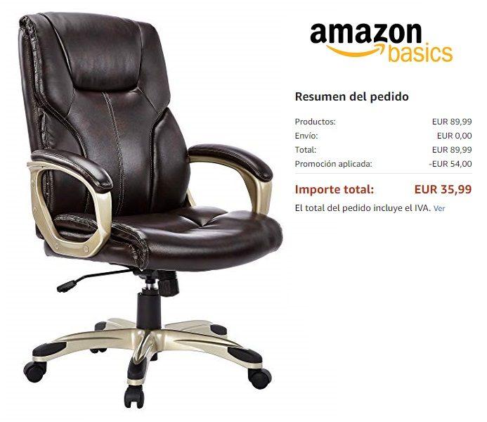 AmazonBasics Silla de Oficina ejecutiva