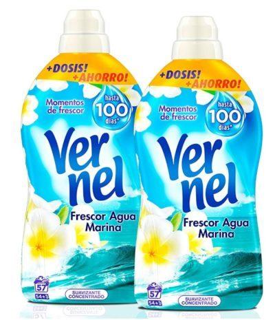 Suavizante Vernel concentrado Frescor agua marina