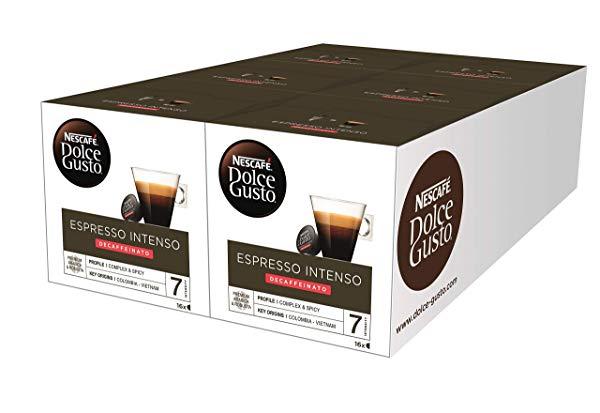 96 x Nescafé Dolce Gusto Espresso Intenso Descafeinado