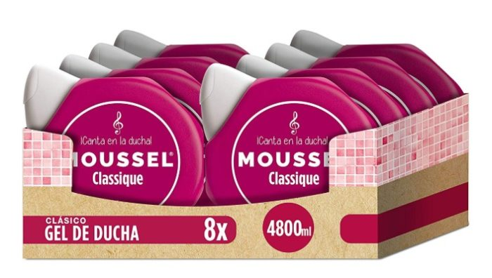 Pack de 8 x 600ml Moussel Gel de Ducha Clasico