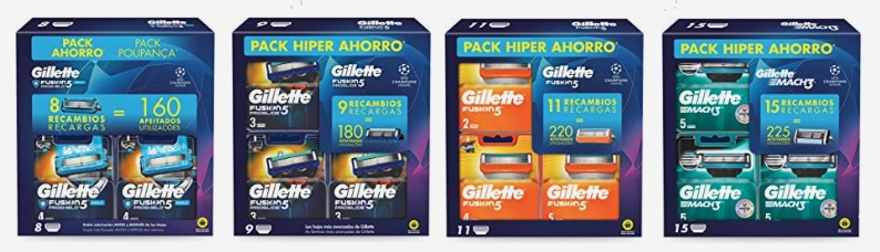 Packs exclusivos Gillette Champion League en oferta