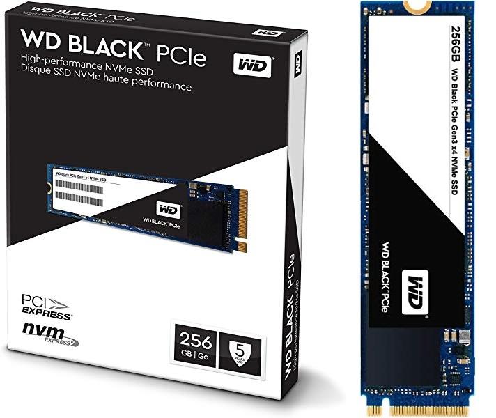 Western Digital Black PCIe SSD m.2 NMVE x4 de 256 GB