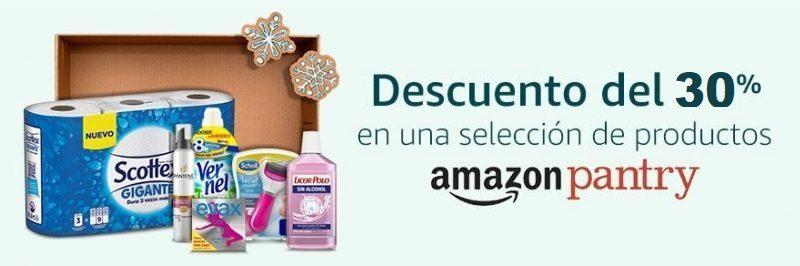Descuento del 30% en productos Pantry Amazon