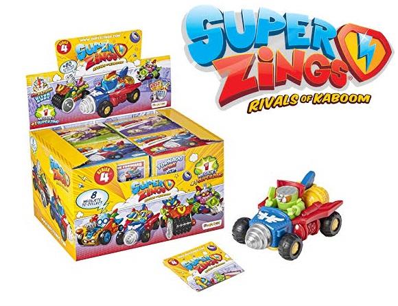 Pack 8 cajas SuperZings vehículos MegaJet