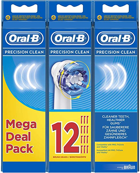 Pack de 12 cabezales Oral-B Precision Clean