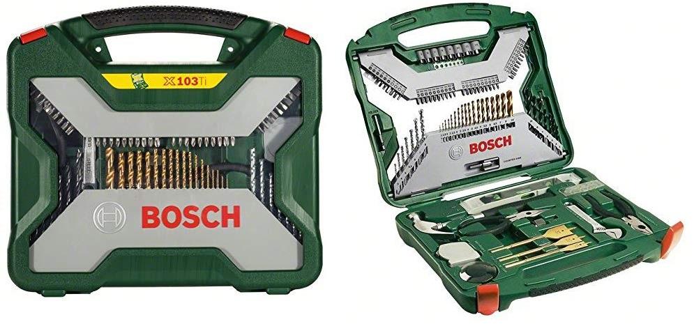 Bosch X-Line Titanio - Maletín de 103 piezas