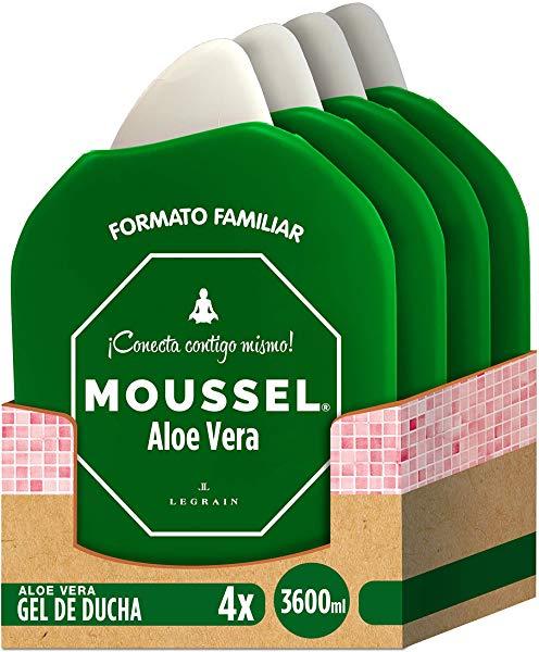 Pack de 4 Moussel Gel de Ducha Aloe Vera