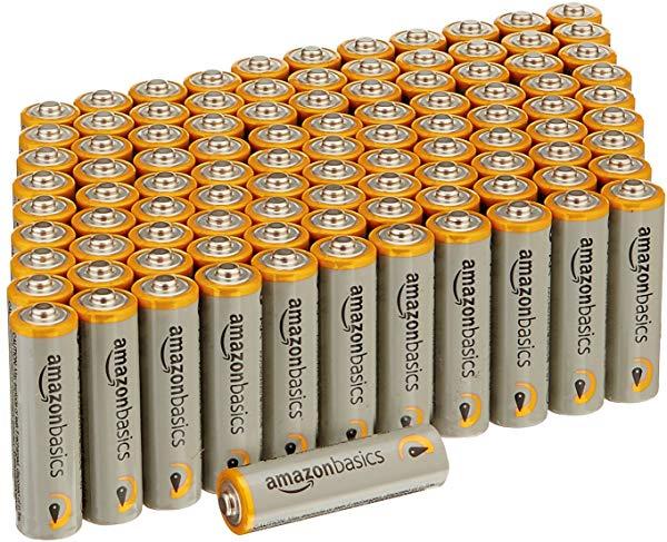 Paquete de 100 Pilas alcalinas AmazonBasics AA