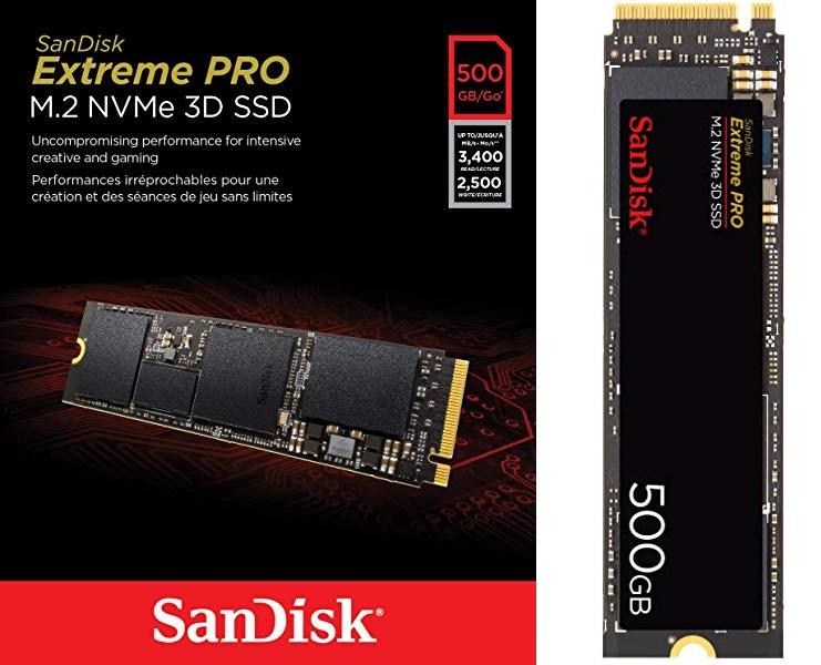SanDisk Extreme Pro 500 GB M.2 NVMe 3D SSD
