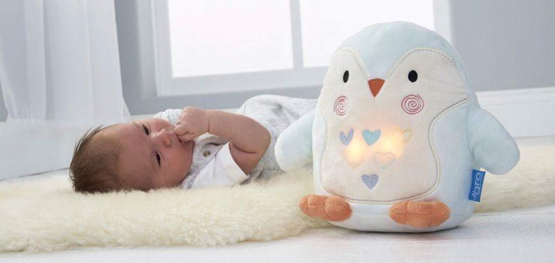 Tommee Tippee GRO Peluche Duermebebés con sensor de llanto Grofriend, Percy el Pingüino