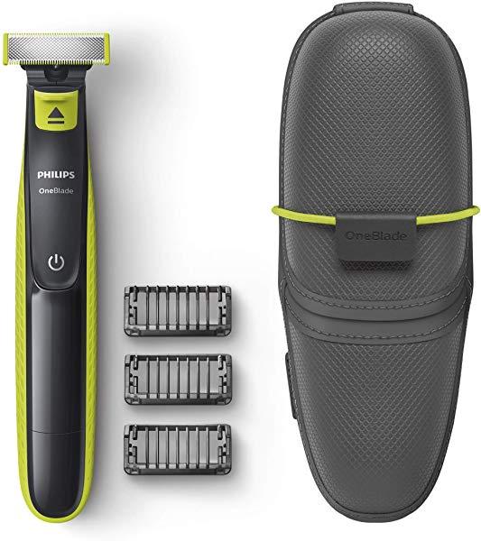 Recortador de barba Philips OneBlade QP2520 + 3 peines + Funda de viaje